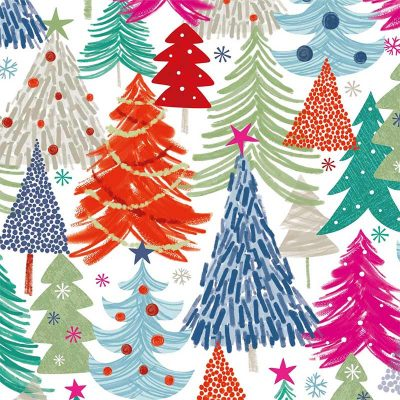 Craft Cotton Co - Colourful Christmas - Colourful Trees 2799-01