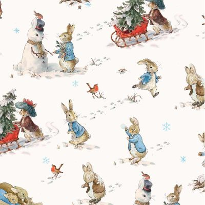 Craft Cotton Co - Peter Rabbit Christmas Traditions - Fun in the Snow 2802-05