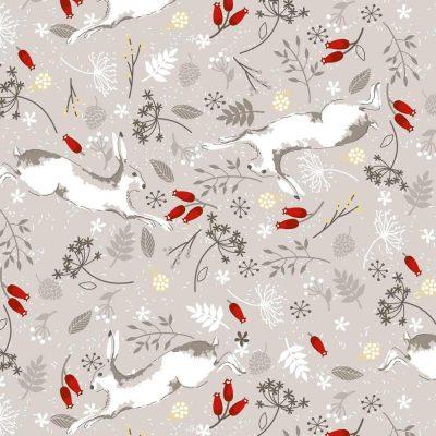 Craft Cotton Co - Christmas Hare & Robin - Christmas Hare Stone 2797-04