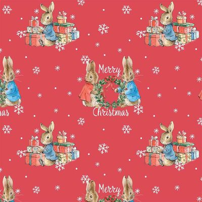 Craft Cotton Co - Peter Rabbit Christmas Traditions - Merry Christmas 2802-01