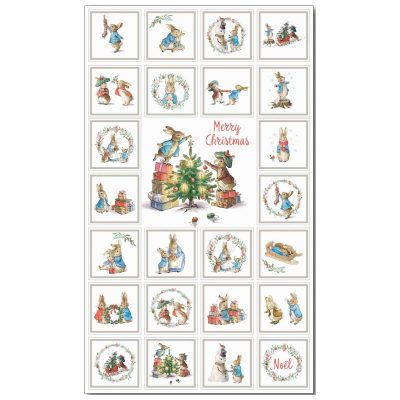Craft Cotton Co – Peter Rabbit Christmas Traditions - Panel 2802-07