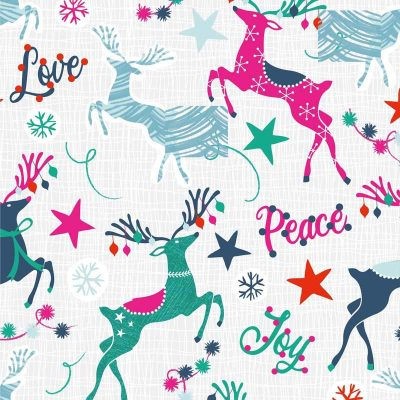 Craft Cotton Co - Colourful Christmas - Colourful Reindeer 2799-05