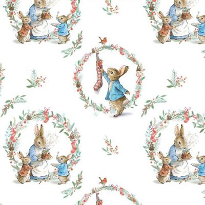 Craft Cotton Co - Peter Rabbit Christmas Traditions - Traditional Wreath 2802-03