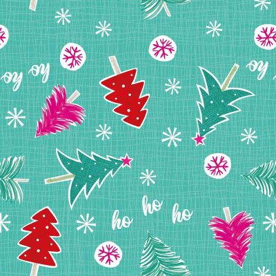 Craft Cotton Co - Colourful Christmas - Trees & Snowflakes 2799-02